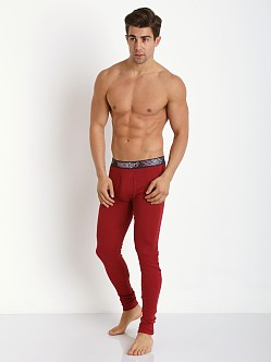 2xist Tartan Long Underwear Cranberry
