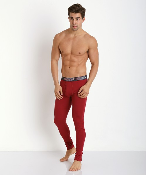 2xist Tartan Long Underwear Cranberry 3104070801-60702 at ...