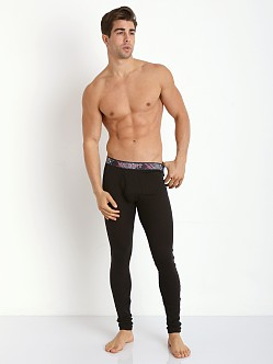 2xist Tartan Long Underwear Black