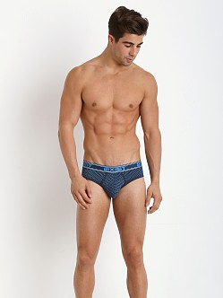 2xist Prints No Show Brief Intersect Print Diagonal Dot