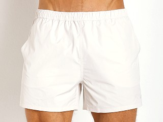 Model in perla Grigio Classic Swim Shorts