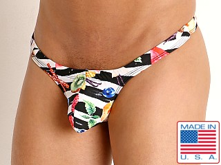 Model in fresh fruit Rick Majors Low Rise Swim Thong