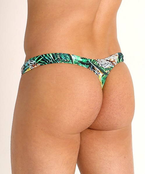 Rick Majors Low Rise Swim Thong Forest Leopard