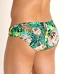Rick Majors Low Rise Swim Brief Forest Leopard, view 4