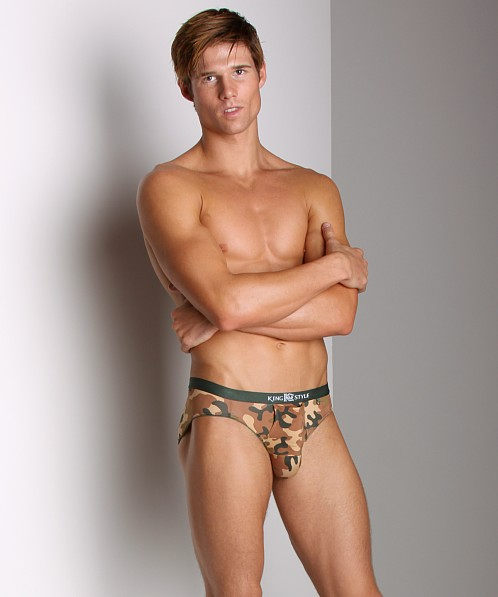 Balls in One Erector Brief Camo Brown