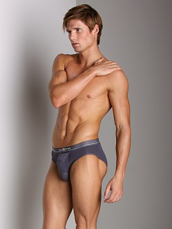 Balls in One Cotton Erector Brief Grey