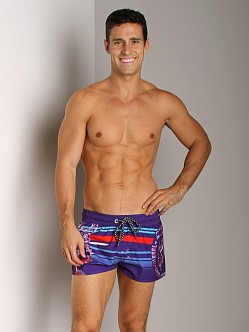 Diesel Coralrif Mohawk Swim Shorts Purple