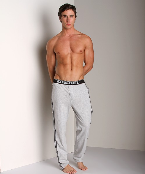 Diesel Adonis Cotton Jersey Lounge Pants Grey