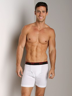 UFC Two-Pack Fly Front Boxer Brief White