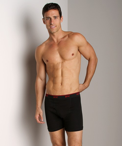 UFC Two-Pack Fly Front Boxer Brief Black