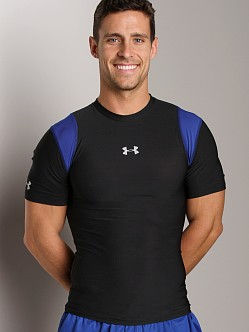 Under Armour Heatgear Vented Compression Shortsleeve T Black/Roy