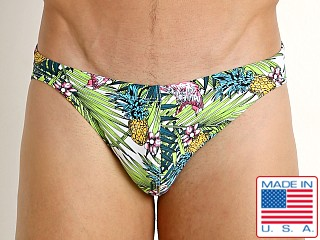 LASC St. Tropez Low Rise Swim Brief Pink Flamingo