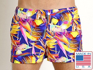LASC Malibu Swim Shorts Magenta Fish