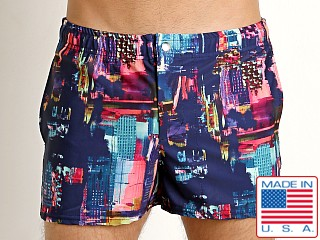 LASC Malibu Swim Shorts Abstract City