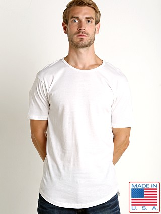 LASC Hipster Long T-Shirt White