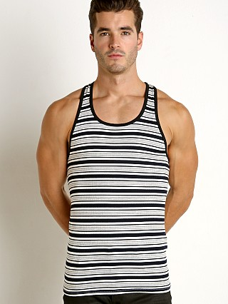 Complete the look: LASC Striped Rib Tank Top Grey
