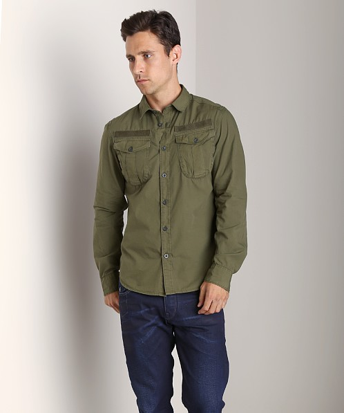 G-Star Ernest Long Sleeve Shirt Rovic Green