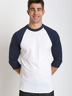 Soffe Classic Baseball Jersey White/Navy