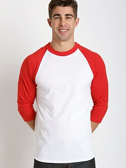 Soffe Classic Baseball Jersey White/Red