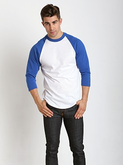 Soffe Classic Baseball Jersey White/Royal