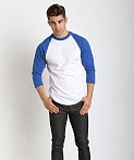 Soffe Classic Baseball Jersey White/Royal, view 1