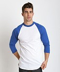 Soffe Classic Baseball Jersey White/Royal, view 3