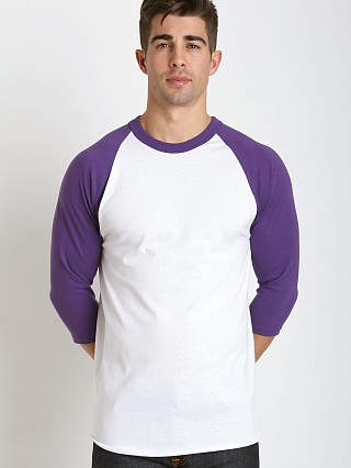Complete the look: Soffe Classic Baseball Jersey White/Purple
