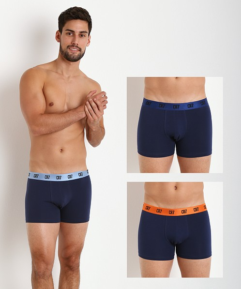 Cristiano Ronaldo CR7 Stretch Cotton Trunk 3-Pack Navy