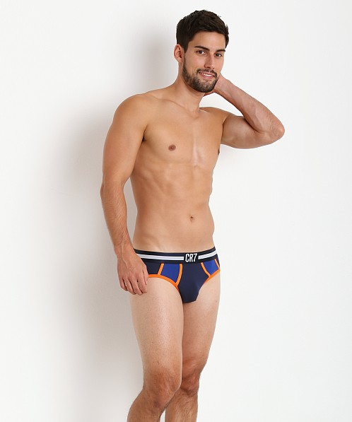 Cristiano Ronaldo CR7 Fashion Color Block Brief Navy/Orange