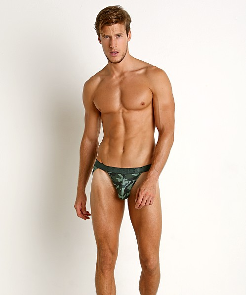 2xist Speed Dri Mesh Sport Brief Camo Green Gables
