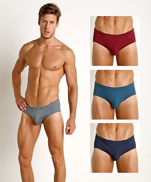 2xist Essential Bikini 4-Pack Legion Blue/Tawny Port/Stormy Weat