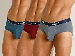 2xist Essential Contour Pouch Briefs 3-Pack Legion Blue/Tawny Po