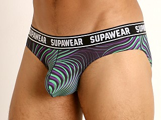 Model in freaky green Supawear Pow Enhancing Brief