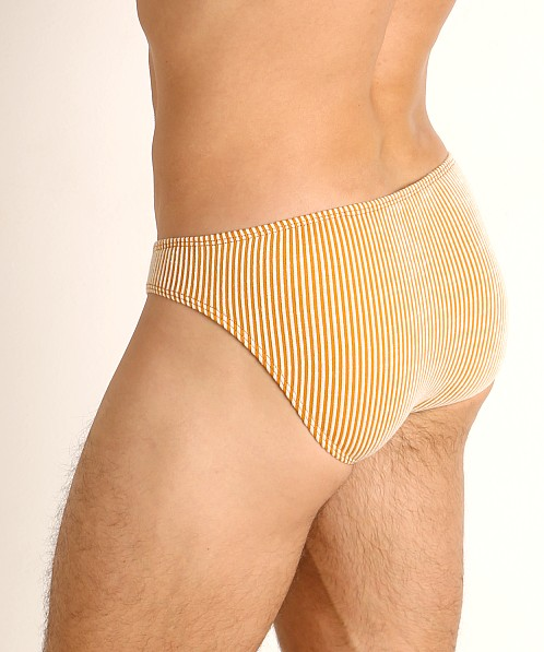 Rick Majors Two-Tone Rib Super Low Rise Brief Yellow