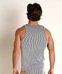 Rick Majors Two-Tone Rib Tank Top Black, view 4