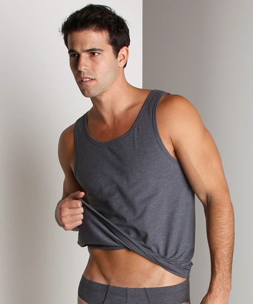 Hanro Cotton Sensation Tank Top Anthracite