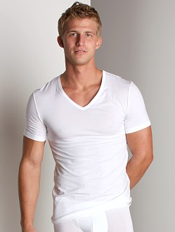 Hanro Cotton Sensation V-Neck Shirt White