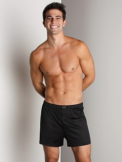 Hanro Cotton Sporty Knit Boxer Black