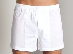 Hanro Cotton Sporty Knit Boxer White
