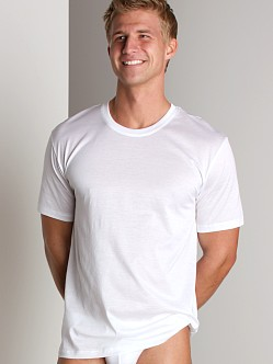Hanro Cotton Sporty Short Sleeve Shirt White