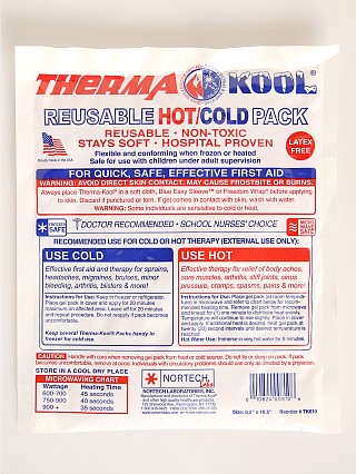 Model in  Nortech Therma Kool Reusable Hot/Cold Pack