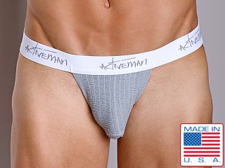 Activeman Signature Series Jockstrap Grey and White