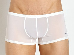 Private Structure Color Peel Nylon Spandex Trunk Bright White