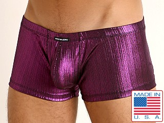Model in fuchsia Rick Majors Lustrous Rib Trunk