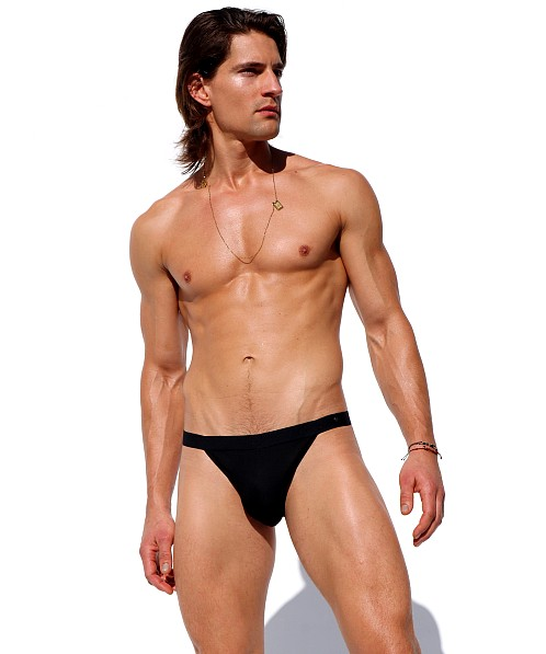 Rufskin Pebble Stretch Rayon Sports Brief Black