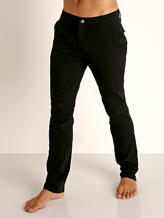Model in black Cell Block 13 Titan Hidden Zipper Pant