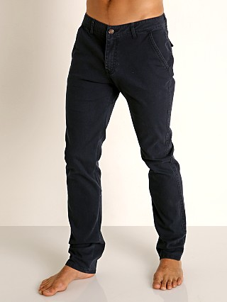 Model in navy Cell Block 13 Titan Hidden Zipper Pant