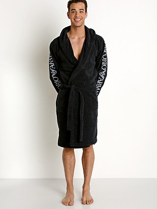 Emporio Armani 100% Cotton Bathrobe Marine