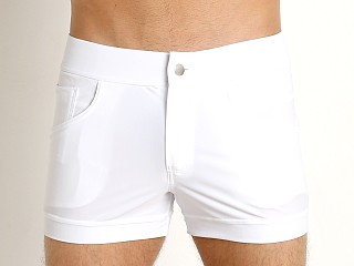 Model in white Modus Vivendi Classic Swim Short