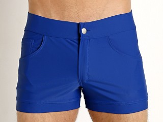 Model in blue Modus Vivendi Classic Swim Short